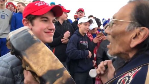 maga hat and native photo